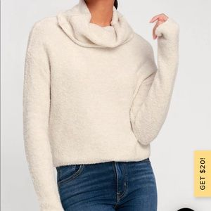 Free People Stormy cowl neck sweater cropped